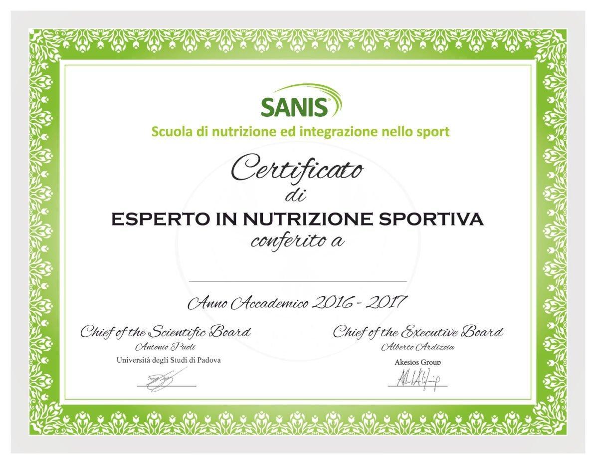 CERTIFICATO Sanis